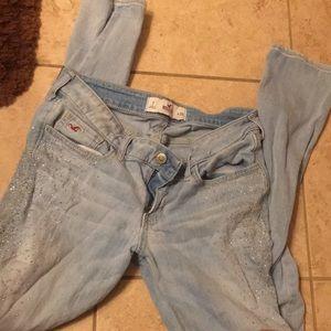 Hollister glitter jeans